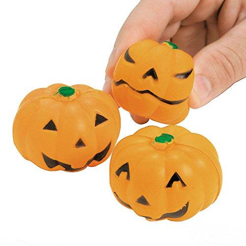 24 HALLOWEEN Party Favors JACK O LANTERN Pumpkin MINI STRESS BALLS Toys US No 1 Seller