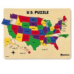 Learning Resources Woodshop Toys US Map Puzzle