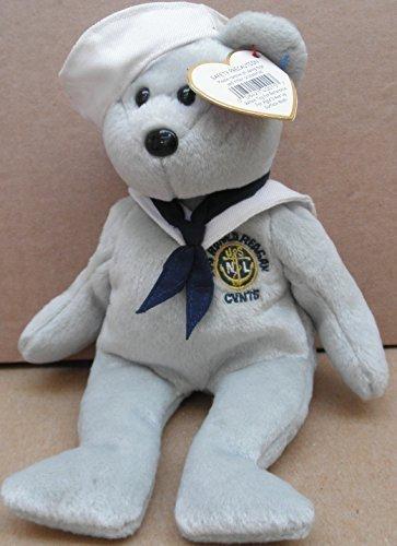TY Beanie Babies Ronnie the Sailor Bear Plush Toy Stuffed Animal - USS Ronald Reagan CVN76