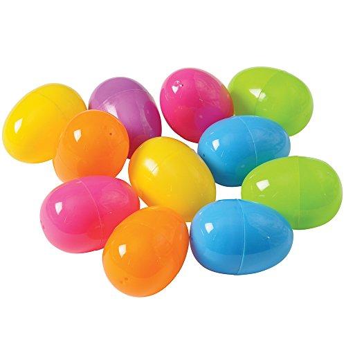 US Toy Bulk Unassembled Plastic Eggs in Assorted Bright Colors  2000-Eggs