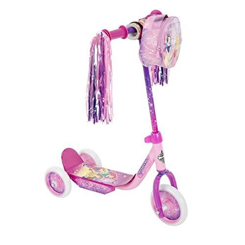 Huffy Girls Disney Princess 3-Wheel Scooter With Handlebar Bag