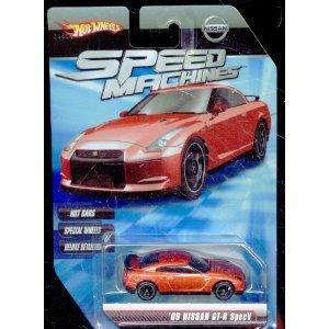 Hot Wheels Speed Machines 09 Nissan GT-R Specv RED 164 Scale
