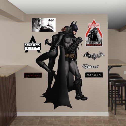 FATHEAD Batman Catwoman Duo Arkham City Graphic Wall Décor