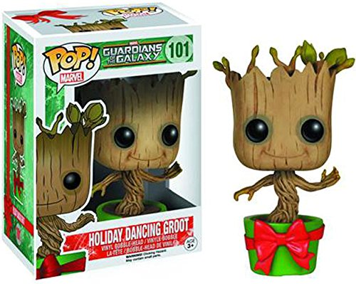Guardians of the Galaxy Holiday Dancing Groot Pop Vinyl Bobble Head Figure