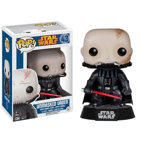 Star Wars Darth Vader Unmasked Pop Vinyl Bobble Head Figure 43 by FunKo