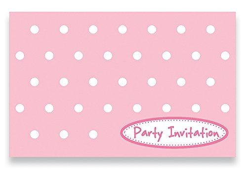 LolliZ Invitation Cards W Envelopes PinkPolka Dots 12 Pcs