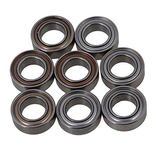 Mxfans 9x5x3mm 959-45 Silver RC112 Aluminum Alloy Ball Bearing for WL L959 L969 L979 L202 L212 L222 K959 Off Road Car Pack of 8