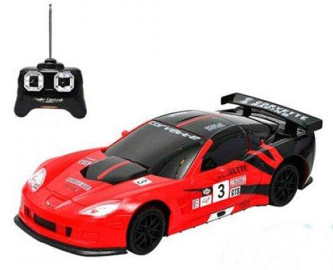 Chevrolet Corvette C6R RC Radio Remote Control Car 124 Scale RedBlack