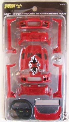 XMODS RC Red Toyota Supra Body Kit Upgrade 600-8518