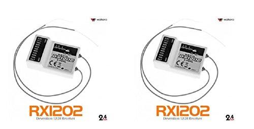 2 x Quantity of DJI Phantom Walkera Devo RX1202 12CH RC RX Receiver for Devention TX 24Ghz - FAST FROM Orlando Florida USA