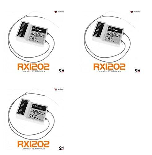3 x Quantity of DJI S1000 Walkera Devo RX1202 12CH RC RX Receiver for Devention TX 24Ghz - FAST FROM Orlando Florida USA