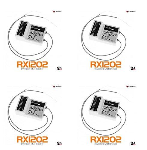 4 x Quantity of Walkera V450D01 FPV 58Ghz Walkera Devo RX1202 12CH RC RX Receiver for Devention TX 24Ghz - FAST FROM Orlando Florida USA