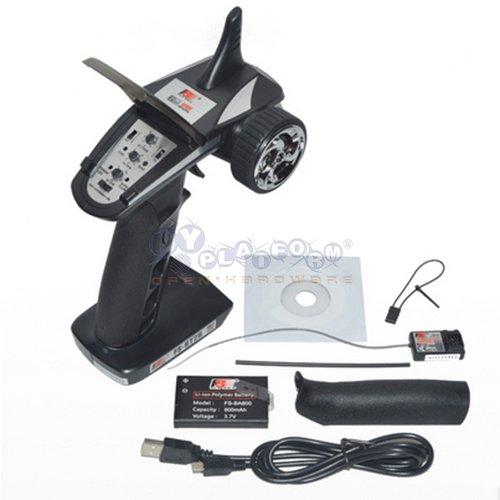 Eztronics CorpFS-GT2B 24G 3CH Radio Model Remote Control TransmitterReceiver for RC Car