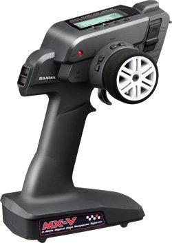 Sanwa MX-V 3-channel Pistol Transmitter w RX-37W Waterproof Receiver - no serv