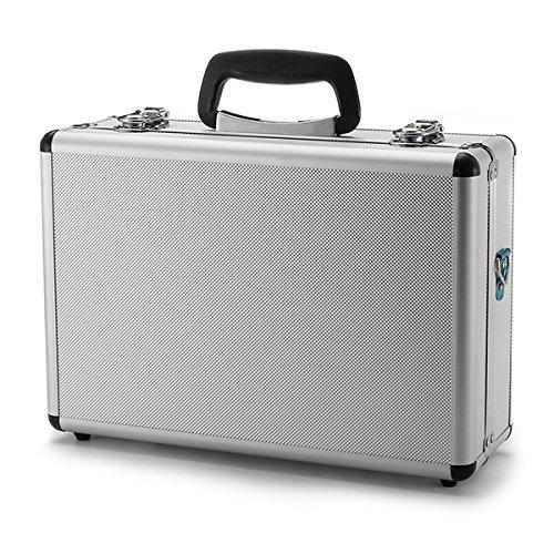 New Silver Aluminum Transmitter Box Carrying Case 35cmx23cmx12cm By KTOY