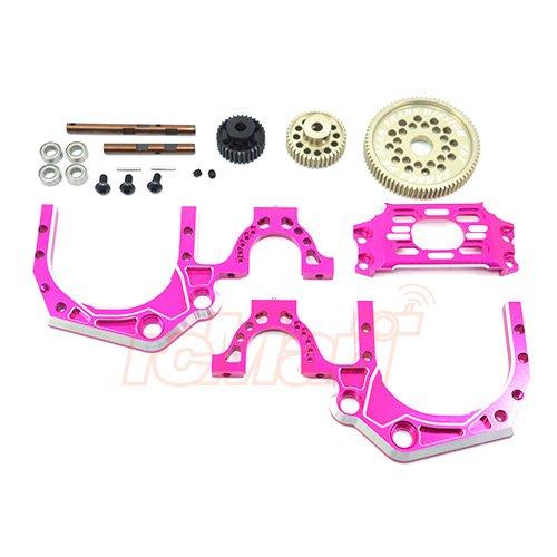 3Racing Sakura D4 Aluminum Rear Gear Transmittion ratio 19 Pink SAK-D4841PK