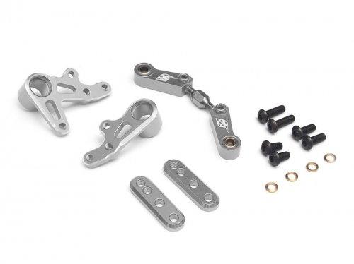 Boom Racing BR921010S Adjustable Steering Assembly for Sakura D4 Rear Silver for 3Racing Sakura D4 RWD