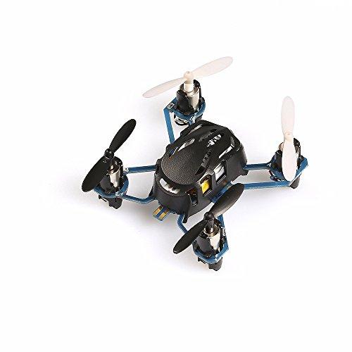 Hubsan H111 Nano Q4 4-Channel 6 Axis Gyro Mini RC Quadcopter with 24Ghz Radio System Mode 2 RTF- Carton Case Black