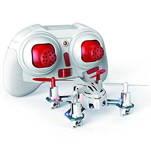 Hubsan H111 Nano Q4 4-Channel 6 Axis Gyro Mini RC Quadcopter with 24Ghz Radio System Mode 2 RTF- Carton Case White
