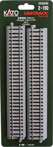 Kato 2-150 HO Unitrack 246mm 975in Straight 4pcs