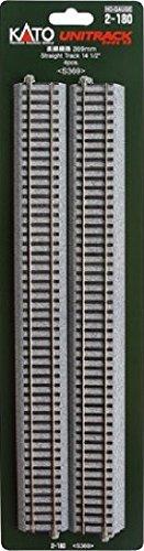 Kato 2-180 HO Unitrack 369mm 145 in Straight 4pcs