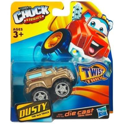 Tonka CHUCK Friends Twist Trax Diecast DUSTY Silver 4x4 Truck