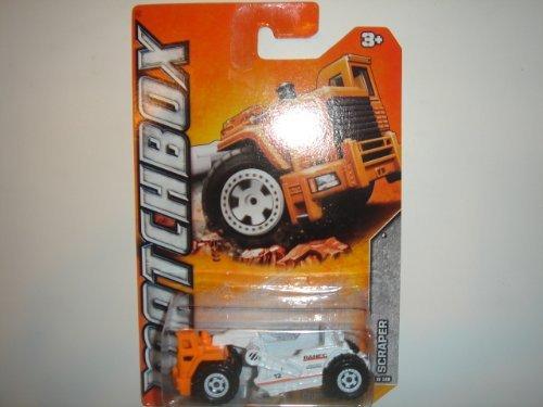 2012 Matchbox Construction Scraper OrangeWhite 58 of 120