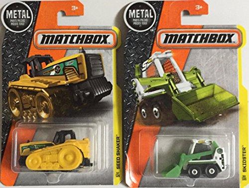 Bundle of 2 Matchbox MBX Construction Vehicles 2016 Seed Shaker ~ 2015 Skidster