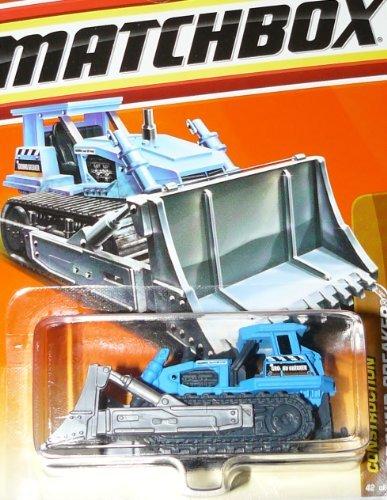 Matchbox Die Cast Toy Matchbox Construction Bulldozer Ground Breaker 42 of 100 Blue Variant Body Gray Plow Blade