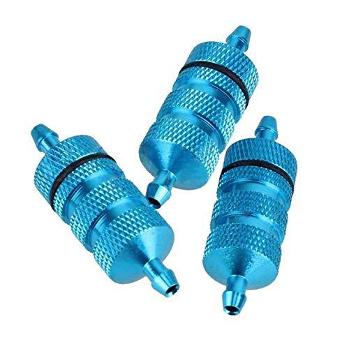 ShareGoo 3PCS RC Aluminum Nitro Fuel Filter for HSP Traxxas 18 110 Nitro Car Buggy Truck -Blue