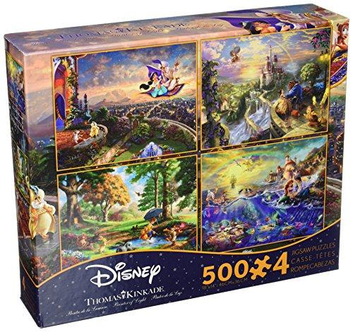 Ceaco Thomas Kinkade 4-in-1 Multi Pack Disney Puzzles 500 Piece