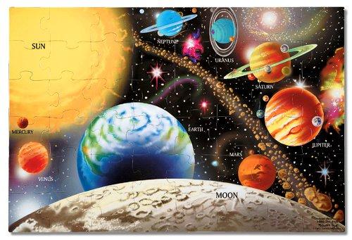 Melissa Doug 413 Solar System Floor Puzzle 48 Pieces 2 x 3 feet