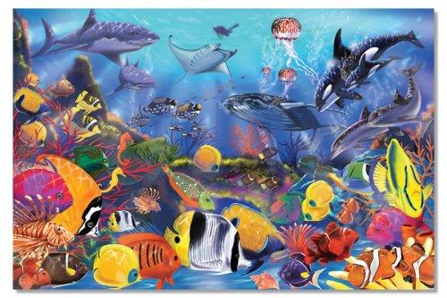 Melissa Doug 427 Underwater Ocean Floor Puzzle 48 Pieces 2 x 3 feet