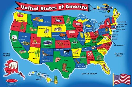 Melissa Doug USA Map Floor Puzzle 51 pcs 2 x 3 feet