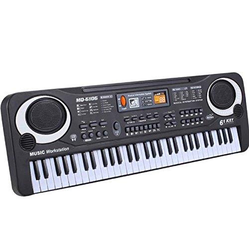Anxinke New 61 Keys Digital Music Instrument Electronic Keyboard Electric Piano with a Mini Microphone