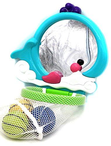VERZABO Mirror Basketball Bath Toy Set for 12 Months Plus Children