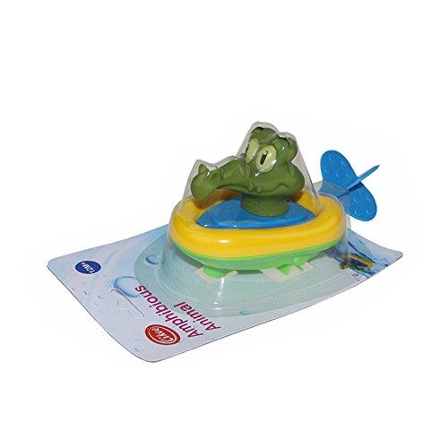 ShiningLove Bathtub Toys Plastic Pull String Duck Crocodile Pelican Animal Boat Swimming Bathtime Fun Toys for Boys Girls Kids Crocodile