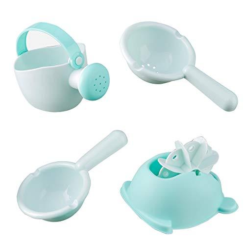 Bathtub Toys Set Baby Bath Toy Frog Spout Shower Beach Toys 4 PCs Bath Bathtime Toys for Baby Toddlers Infants Girls Boys