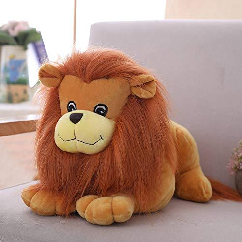 Jinjin Lion Plush Toy Simulation Lion Baby Toy Set Soft Plush Fabric Light Brown Childrens Plush Stuffed Animal Toy 28Cm 11 Inch Brown