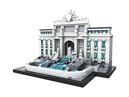 LOZ Mini Building Blocks World Famous Architecture Series Trevi Fountain