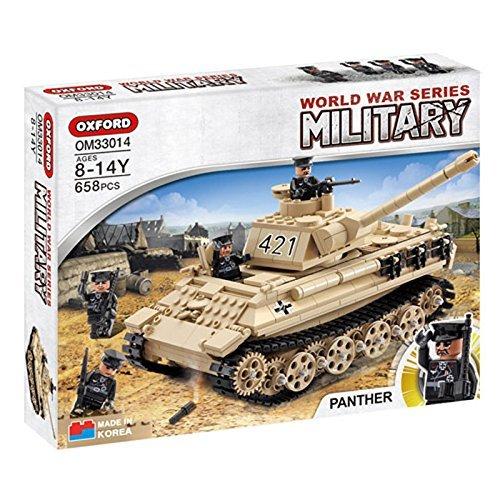 Oxford Blocks World War Series OM33014 PANTHER TANK Lego Style Block Toy
