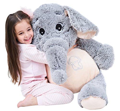 IKASA Giant Elephant Stuffed Animal Plush Toys Gifts Gray 39 inches