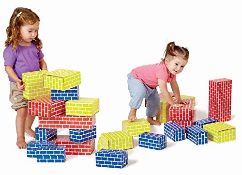 Edushape 709052 Corrugated Blocks 52 Piece