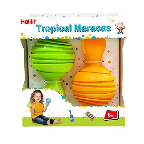Edushape HL385 Halilit Maracas Toy Instrument Tropical Colors May Vary