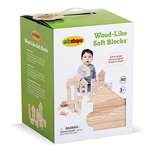 Edushape Wood Like Soft Blocks 80 Piece