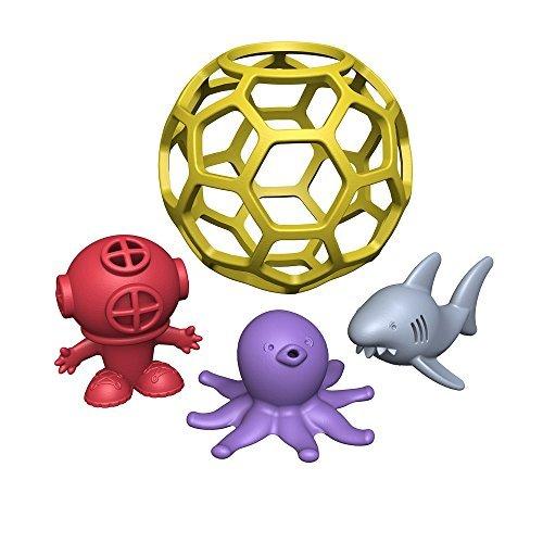 BeginAgain Bathtub Ball-Eco Friendly Rubber Bathtub Toy - Great for Toddlers Bathtime Adventures - Award Winning Eco-Friendly Toys from BeginAgain by BeginAgain