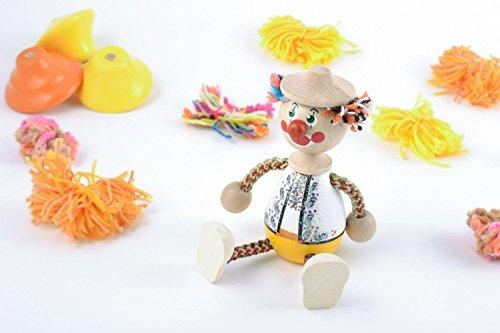 Wooden Handmade Decorative Toy Clown In Hat Designer Eco Friendly Toy