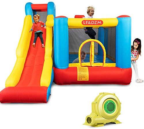 JOYMOR Bounce House Little Kids Inflatable Bouncing Castle Play Center w Air Blower Pump Slide Bouncer
