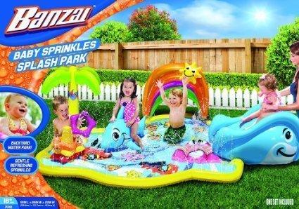 Spring Summer Toys Banzai Baby Sprinkles Splish Splash Water Park Sprinkling Activity Center
