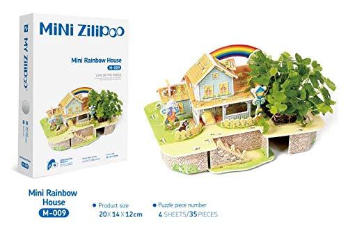 3D Puzzle Child Plant Farm Brain Teasers Children DIY Handmade Toys Paper Building Model ToyMini Rainbow House